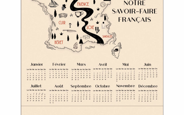 Ariane 7 - calendriers torchons France