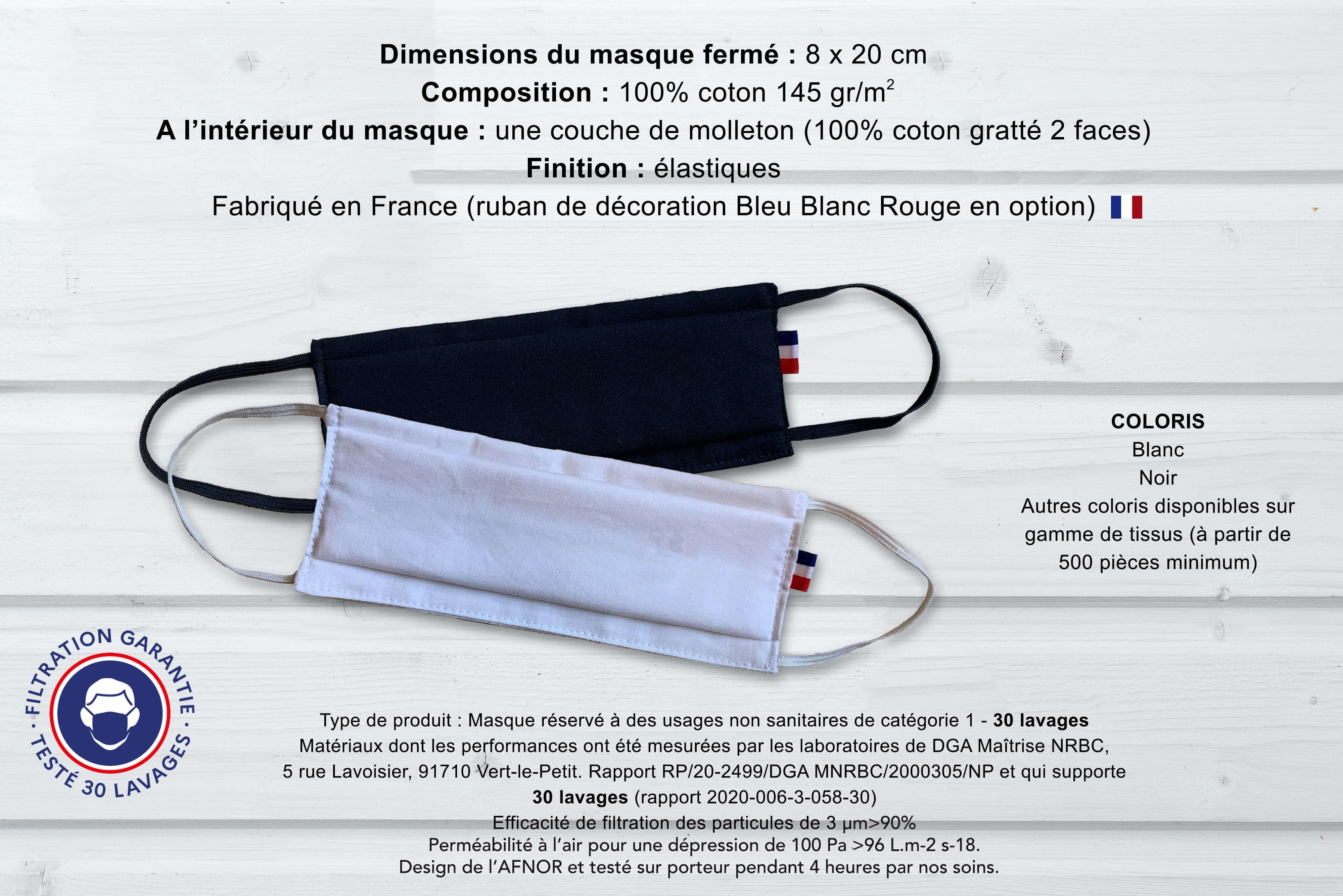 Ariane 7 - masque en tissu made in france